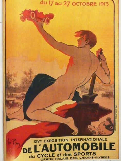 affiche salon de l'auto 1913