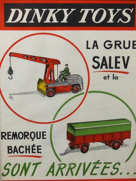 Affichette Dinky Toys grue Salev