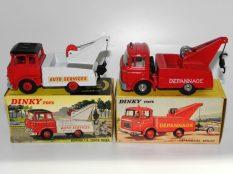 Dinky Toys Berliet gak et Bedford TK dépanneuses