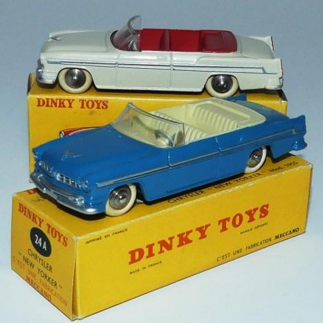 Dinky Toys Chrysler New Yorker bleu dur ivoire (essais de couleur )