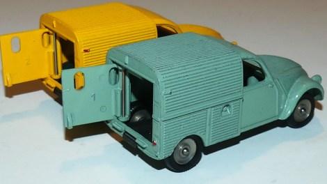 Dinky Toys numéros de portes sur la Citroën 2cv camionnette