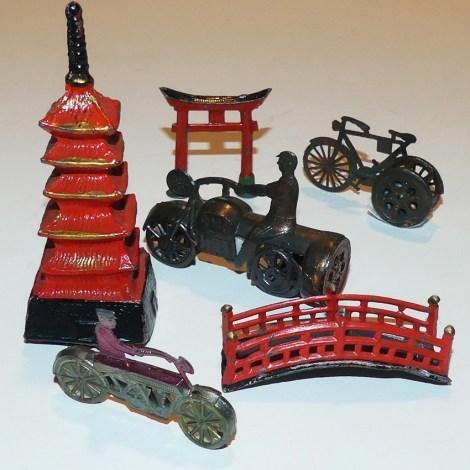 Japon avant-guerre ensemble de motos et vélo