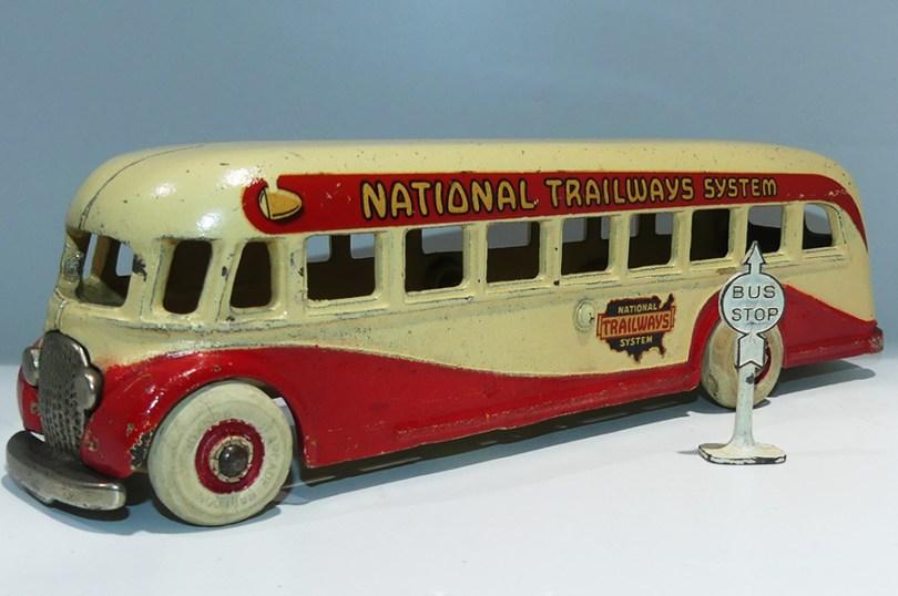 """Arcade AFC car """"National Trailways System"""" (grand modèle)"""