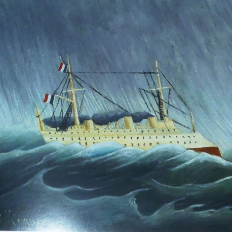 """Le douanier Rousseau """"le navire dans la tempête"""" 1899"""