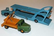 Dinky Toys Unic prototype Unic semi remorque porte autos Boilot avec le prototype du multibenne