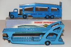 """Dinky Toys Bedford """"O"""" et Unic tracteur semi remorque porte autos (essai de couleur)"""