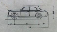 Dinky Toys plan de la Peugeot 403