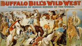 Affiche du spectacle de Buffalo Bill et des indiens