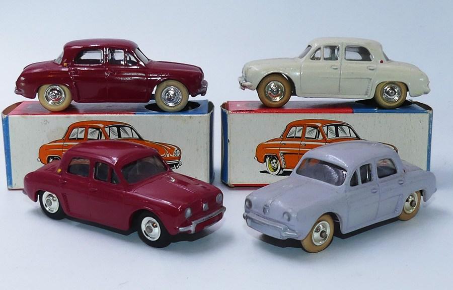 C-I-J Renault Dauphine avec vitrage (les blanches et les rouges)