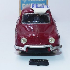 Norev rare Renault Dauphine avec plaque d'immatriculation amovible