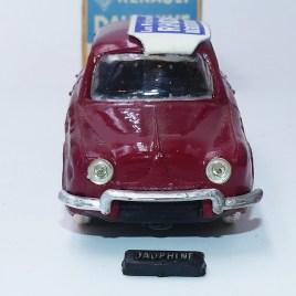 Norev rare Renault Dauphine avec plaque d'immatriculation amovible