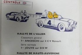 catalogue Esso publicitaire avec palmarès 1956 y compris les rallyes régionaux !