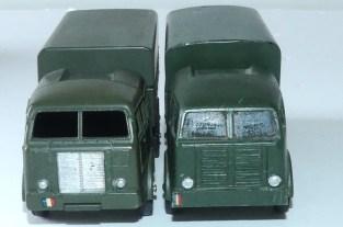 prototype en bois Dinky Toys Berliet T6 et modèle de série