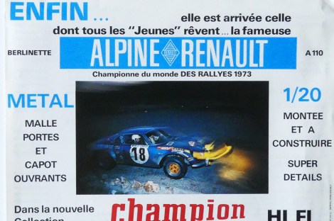 Safir Champion publicité pour l'Alpine Renault 1600S