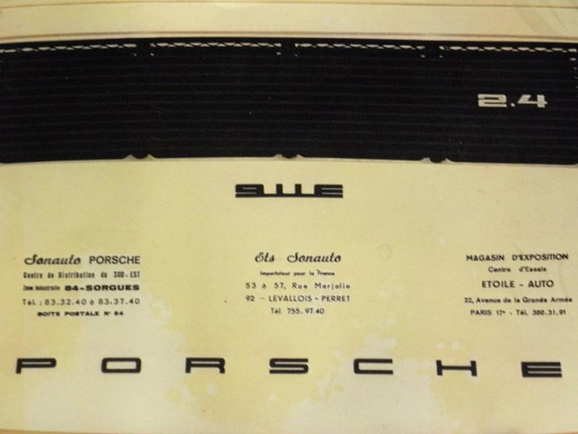 Catalogue Porsche 911 E 2,4L