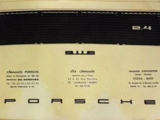 Catalogue Porsche 911 E 2,4L