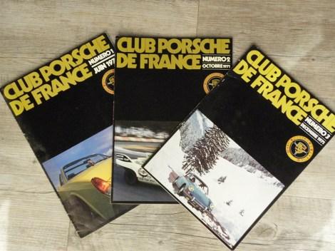 les 3 premiers numéros de la revue du Club Porsche de France