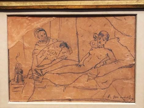 Edouard Manet étude pour Olympia (1862)