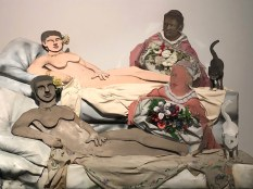 """Larry Rivers """"I like Olympia in black face"""" 1970"""
