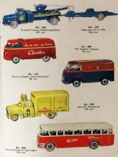 Tekno Suède rare catalogue avec modèles réservés pour ce marché uniquement : que des raretés !