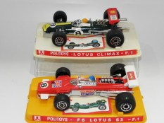 """Politoys Lotus formule 1 """"Climax"""" et type 63"""