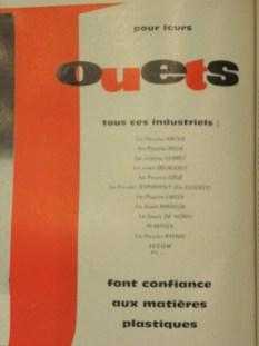Rhone Poulenc publicité avec le nom des différents clients, dont Norev et Minialuxe