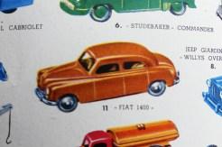 Mercury Fiat 1400 (catalogue où figure ces illustrations)