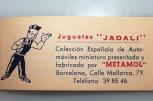 Jadali catalogue avec la Seat 1400 le geste du connaisseur