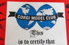 """Corgi Toys le certificat qui était dans le """"tube"""""""