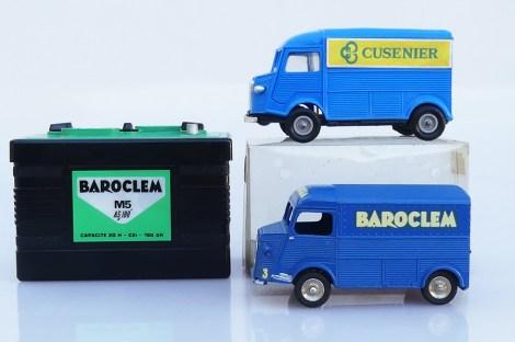 Dinky Toys et Norev Citroën 1200Kgs : différence d'échelle de reproduction