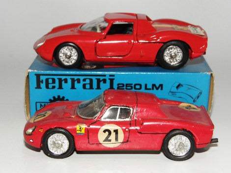 Mercury Ferrari 250 LM et la version de RD Marmande