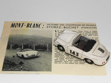 RD Marmande Porsche 356 de Storez Buchet avec la documentation envoyée à Raymond Daffaure