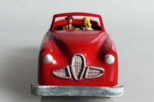 Solido Alfa Romeo cabriolet: au volant l'intrépide...monsieur n'en mène pas large !