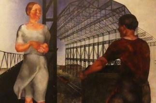 """Alexandre Deïneka """"Sur le chantier de construction de nouveaux ateliers"""" 1926"""