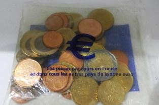 sachet d'euros disponible avant le passage à l'euro le 1er Janvier 2002