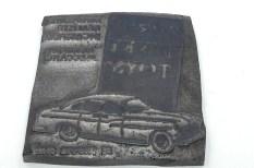 Dinky Toys : plaque lithographique en plomb ..pour en savoir plus lisez le livre page 349