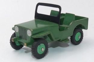 Dinky Toys prototype bois de la Willys jeep Universal