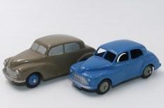 Dinky Toys prototype bois de la Morris Oxford et la version de série (couleur rare)