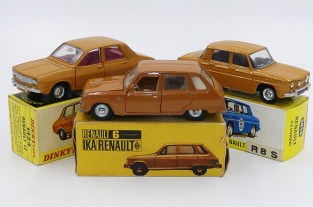 "Dinky Toys France ensemble de Renault couleur ""caramel"""