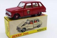 Dinky Toys France Renault 6 pompiers de Paris