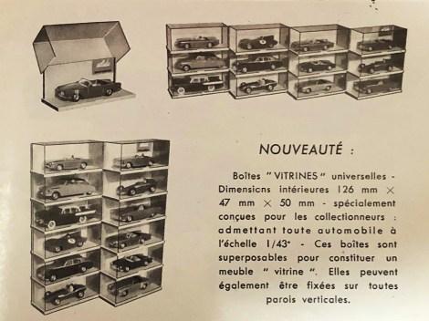 boites Solido de type vitrine commercialisées en 1960