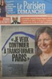 La une du journal Le Parisien Dimanche du 12 Janvier 2020