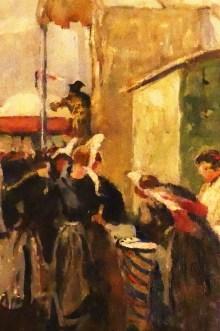 """Lucien Simon """" la bonne aventure"""" 1941 (détail)"""