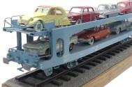 Arma maquette de wagon porte auto 1/43: ne dirait on pas un vrai ? quels soucis du détail !