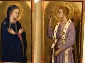 collection Alana : Nardo di Cione Vierge et ange de l'Annonciation