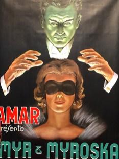 affiche du cirque Amar (numéro de voyance)