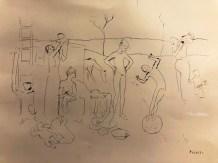 """Pablo Picasso """"les Saltimbanques"""" 1905 collection Dr Alain Frère"""