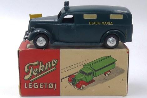 "Tekno Triangel fourgon ""black Maria"" (police) boîte exportation USA"