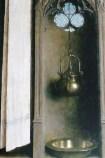 Jan Van Eyck : effets de lumière et reflets (détails)