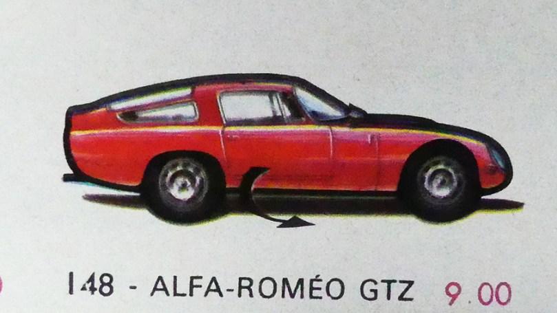 affichette Solido : Alfa Romeo GTZ signé Jean Blanche